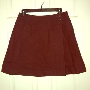 Eddie Bauer wool mini wrap skirt